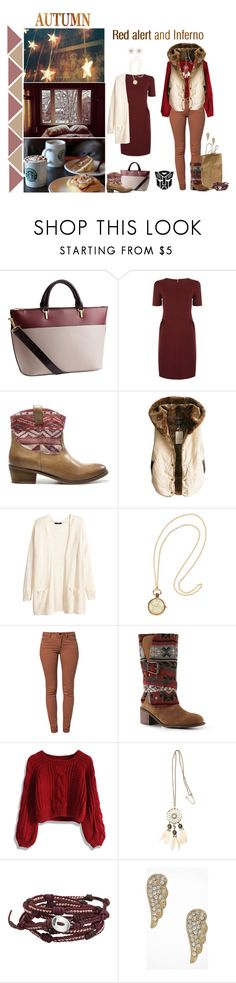 """""""Inferno and red alert"""" by femme-mecha ❤ liked on Polyvore featuring H&M, Sessùn, Zara, ...Lost, SELECTED, Muk Luks, Chicwish, Chan Luu, Express and Forever New"""