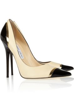These shoes are an extension of my heartbeat...dramatic...but true. :-) Jimmy Choo Limit Tri-Tone Leather Pumps