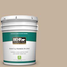 BEHR Premium Plus 5-gal. #ecc-20-1 Canyon View Zero VOC Semi-Gloss Enamel Interior Paint