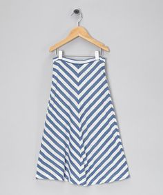 Take a look at this Indigo & Ivory Stripe Maxi Skirt - Girls by Tom Girls Clothing on #zulily today!