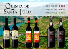 Buy now our pack of 6 bottles from Quinta de Santa Júlia with 40% discount ttp://www.portugalvineyards.com/ #Portuguese #wines #online #Portugal #Wine #Online #Shop #Promotions