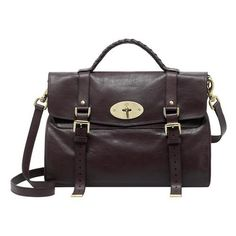 Mulberry - Oversized Alexa in Chocolate Soft Buffalo Mulberry Alexa, Brown Satchel, Leather Satchel, Cheap Handbags, Handbags On Sale, Fashion Bags, Women's Fashion, Hermes Kelly Bag