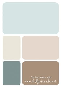 Color Board: Powder Blue and Beige, Pittsburgh Paints: Cave Pearl, China White, Toast, Scarborough, Cobblestone