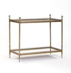 Mecox Gardens - Solid Brass Two Level Side Table Detail