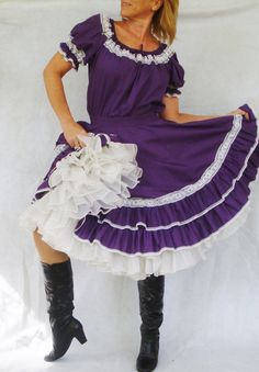 bf7007d46a3a Plus Size Vintage Square Dancing Dress. Purple by TaborsTreasures, $37.00  Barn Dance Outfit,