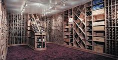 Wine rack, space for slabs of beer, cases of wine and individual bottles.  A bit over the top, yet nice!