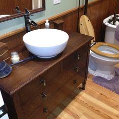 Western style bathroom sink.