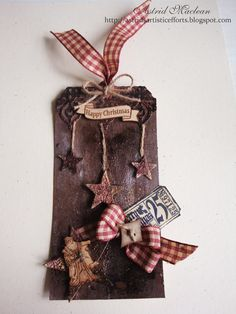 Astrid's Artistic Efforts: 12 Tags of Christmas Funkie Junkie Style tag 9