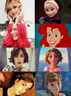 Martina as the Disney princesses