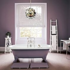 On pinterest purple bathrooms gray paint colors and purple gray