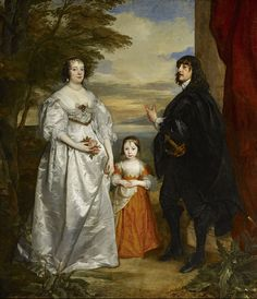 Anthony van Dyck (1599–1641), James, Seventh Earl of Derby, His Lady and Child, from 1632 until 1641
