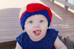 Princess Beanie PDF PATTERN Crochet Sizes Baby by BeccasBeanies