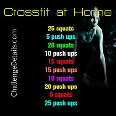 So I did this ...I am so sore, but I feel so strong:)---try it and tell me how you did.  Crossfit at home! Hard work works... You don't need a gym! #crossfit #stayactive