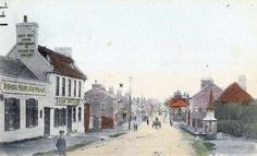 The Dover Castle, Teynham, looking West down what is now the A2 (London Road)