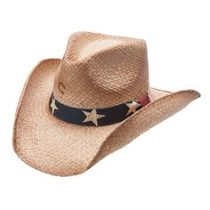 Charlie 1 Horse Stars & Stripes Straw Hat Stars & Stripes straw hat by Charlie 1 Horse®. Natural sweated straw hat with Red, White and Blue fabric band printed with stars. Kids Cowboy Hats, Cowgirl Hats, Western Hats, Cowboy Boots, Rodeo Cowgirl, Cowgirl Style, Charlie 1 Horse Hat, Horse Star, Western Wear Stores
