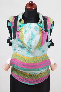 d768d1a0316 Lenny Lamb Ergonomic Full Buckle Carrier MINT LACE (cotton) PREORDER Ring  Sling