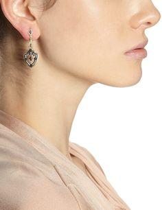 Midnight Sapphire Shield Earrings | Armenta | Avenue32<31640<3<3