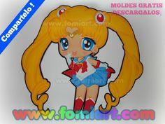 """DESCARGA ESTOS MOLDES GRATIS : """"Sailor Moon"""""""