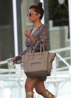 NEED THIS BAG!!!! | Kourtney Kardashian with Celine Dune Mini Luggage Bag