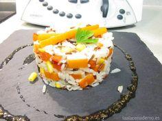 Receta de Ensalada de Arroz con Thermomix: una receta muy fresca y divertida para tomar en verano, estupenda para llevar a la playa o a la piscina!