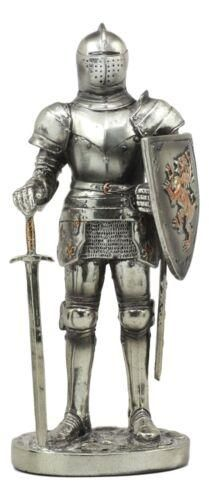 Medieval Knight Decorative Figurine Axeman Standing Guard Statue Suit of Armor