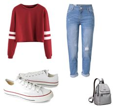 """""""Untitled #15"""" by esmebb ❤ liked on Polyvore featuring Converse and WithChic"""