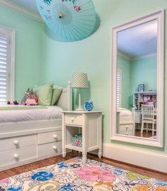 Girls room white bed