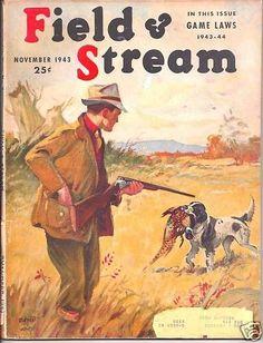Field Stream 1943 November Clarke Venable Cover Art   eBay