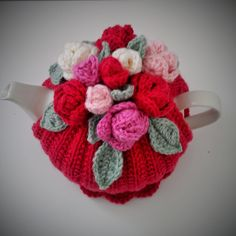 Craft a cure for cancer free tea cosy patterns: Rose tea cosy
