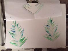 MUVO: de Jungle : Henri Rousseau (uitwrijftechniek, verschillende tinten van 1 kleur & mengen, sjabloon)