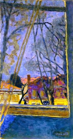 Landscape through a Window / Pierre Bonnard - circa 1918