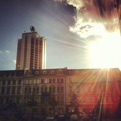 Abendsonne über Leipzig.