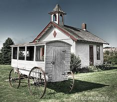 items from one room school houses | School Wagon In Front Of One-Room Schoolhouse Stock Image - Image ...