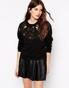 Greylin Dani Fair Isle Embellished Sweatshirt