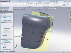 SolidWorks Advanced Surfacing Followup. This video is a followup of the other Adv. Surfacing videos trying to answer some of the questions asked by viewers. ... Cad Computer, Solidworks Tutorial, Cad Programs, Autodesk Inventor, 3d Tutorial, Cad Drawing, Technical Drawing, Autocad, Drawing Techniques