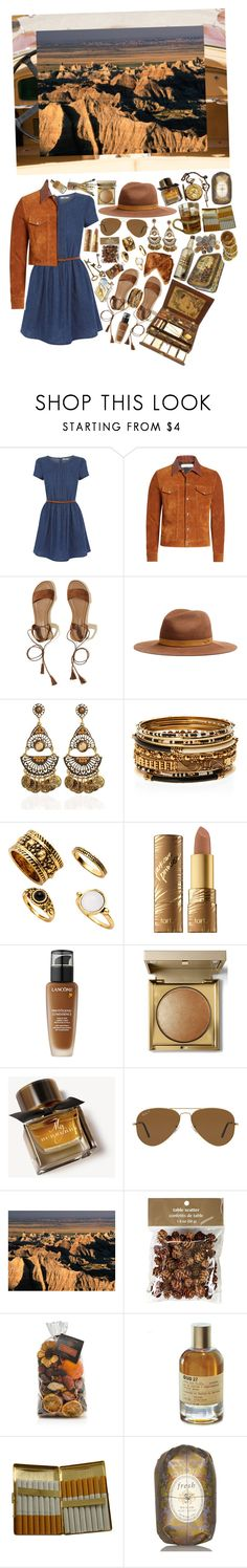 """""""i was lightning before the thunder"""" by loveselena22 ❤ liked on Polyvore featuring Oasis, Golden Goose, Hollister Co., rag & bone, Amrita Singh, tarte, Lancôme, Stila, Burberry and Ray-Ban"""