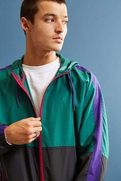 6b5f23177ddd Slide View  5  UO  90s Colorblocked Windbreaker Jacket