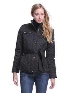 56% OFF Laundry by Design Women's Quilted Jacket with Belt