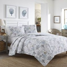 Tommy Bahama Bedding Beach Bliss 3 Piece Reversible Quilt Set Tommy Bahama Bedding Size: