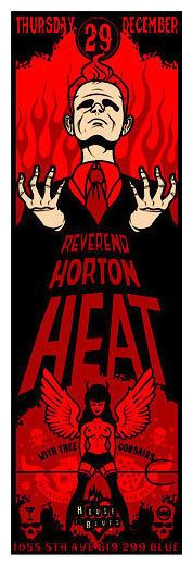 The Reverend is burning down the Chapel... again. Yet another super mad poster gig poster from the boys. Sorry the image file is so small, couldn't find a bigger one anywhere. Artist unknown.