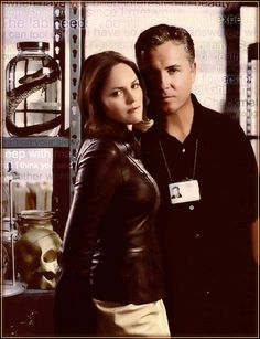 Grissom and Sara #CSI  he so needs to come back as a guest star so I can see them together again