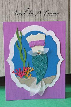 Princess Ariel Handmade Card - 2 background options