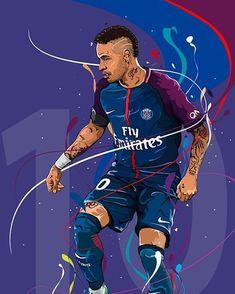 Football Art, Football Players, Neymar Psg, Football Pictures, Champions, Cristiano Ronaldo, World Cup, Graffiti, Joker