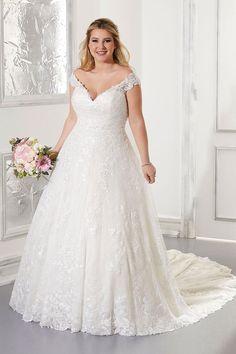 Mori Lee Plus Size Wedding Gowns, Bridal Wedding Dresses, White Wedding Dresses, Designer Wedding Dresses, Bridal Style, Lace Wedding, Wedding Book, Trendy Wedding, Wedding Hair