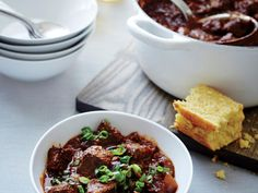 Texas chili is purely beef-driven: no beans allowed. This version boasts smoky, complex, deep flavor from a mix of dried chiles and chili...