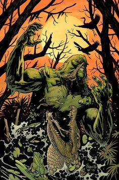 The Swamp Thing by Yanick Paquette, colours by Nathan Fairbairn *