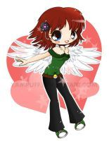 Delilah Chibi Commish by YamPuff