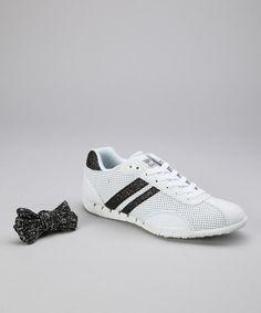 White & Black Sazuka Sneaker - Women by Gotta Flurt
