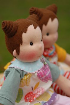 Two Kiki dolls by Notes from Björkasa