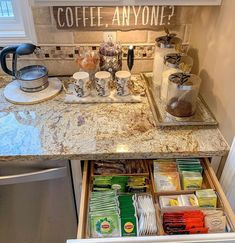 Stylish Home Coffee Bar Design Decor Ideas - lmolnar Best Picture For Home Coffee Stations b. Coffee Station Kitchen, Coffee Bars In Kitchen, Coffee Bar Home, Home Coffee Stations, Coffe Bar, Deco Design, Küchen Design, Home Design, Interior Design